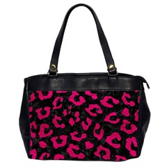 Skin5 Black Marble & Pink Leather Office Handbags (2 Sides)  by trendistuff