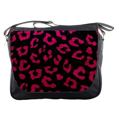 Skin5 Black Marble & Pink Leather Messenger Bags by trendistuff