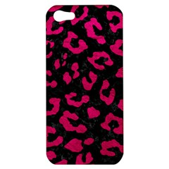 Skin5 Black Marble & Pink Leather Apple Iphone 5 Hardshell Case by trendistuff