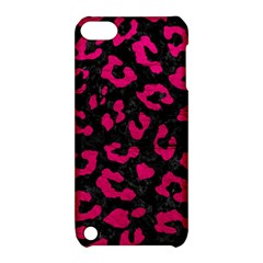 Skin5 Black Marble & Pink Leather Apple Ipod Touch 5 Hardshell Case With Stand by trendistuff