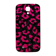 Skin5 Black Marble & Pink Leather Samsung Galaxy S4 I9500/i9505  Hardshell Back Case by trendistuff