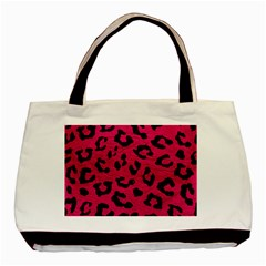 Skin5 Black Marble & Pink Leather (r) Basic Tote Bag (two Sides) by trendistuff