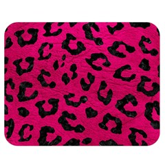Skin5 Black Marble & Pink Leather (r) Double Sided Flano Blanket (medium)  by trendistuff