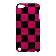 Square1 Black Marble & Pink Leather Apple Ipod Touch 5 Hardshell Case by trendistuff