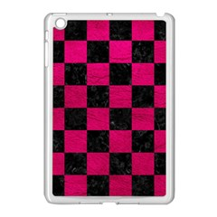 Square1 Black Marble & Pink Leather Apple Ipad Mini Case (white) by trendistuff