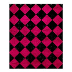 Square2 Black Marble & Pink Leather Shower Curtain 60  X 72  (medium)  by trendistuff