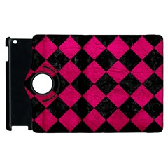 Square2 Black Marble & Pink Leather Apple Ipad 3/4 Flip 360 Case by trendistuff
