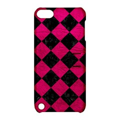 Square2 Black Marble & Pink Leather Apple Ipod Touch 5 Hardshell Case With Stand by trendistuff
