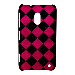 Square2 Black Marble & Pink Leather Nokia Lumia 620 by trendistuff