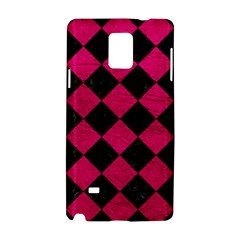 Square2 Black Marble & Pink Leather Samsung Galaxy Note 4 Hardshell Case by trendistuff