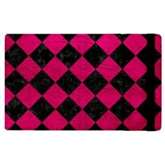 Square2 Black Marble & Pink Leather Apple Ipad Pro 9 7   Flip Case by trendistuff