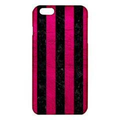 Stripes1 Black Marble & Pink Leather Iphone 6 Plus/6s Plus Tpu Case by trendistuff