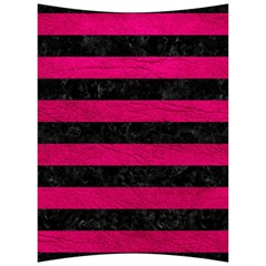 Stripes2 Black Marble & Pink Leather Back Support Cushion by trendistuff