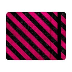 Stripes3 Black Marble & Pink Leather Samsung Galaxy Tab Pro 8 4  Flip Case