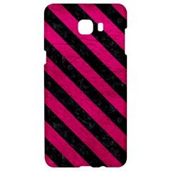 Stripes3 Black Marble & Pink Leather Samsung C9 Pro Hardshell Case  by trendistuff