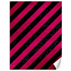 Stripes3 Black Marble & Pink Leather (r) Canvas 36  X 48   by trendistuff
