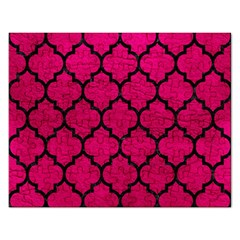 Tile1 Black Marble & Pink Leather Rectangular Jigsaw Puzzl by trendistuff