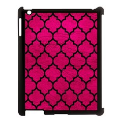 Tile1 Black Marble & Pink Leather Apple Ipad 3/4 Case (black) by trendistuff