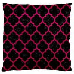 Tile1 Black Marble & Pink Leather (r) Large Flano Cushion Case (two Sides) by trendistuff