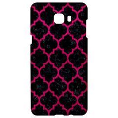 Tile1 Black Marble & Pink Leather (r) Samsung C9 Pro Hardshell Case  by trendistuff