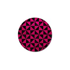 Triangle1 Black Marble & Pink Leather Golf Ball Marker (10 Pack) by trendistuff
