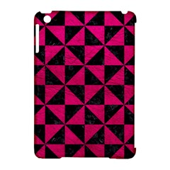 Triangle1 Black Marble & Pink Leather Apple Ipad Mini Hardshell Case (compatible With Smart Cover) by trendistuff