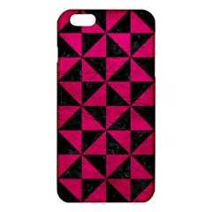 Triangle1 Black Marble & Pink Leather Iphone 6 Plus/6s Plus Tpu Case by trendistuff