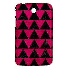 Triangle2 Black Marble & Pink Leather Samsung Galaxy Tab 3 (7 ) P3200 Hardshell Case  by trendistuff