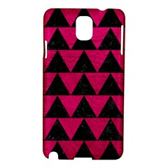 Triangle2 Black Marble & Pink Leather Samsung Galaxy Note 3 N9005 Hardshell Case