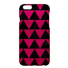 Triangle2 Black Marble & Pink Leather Apple Iphone 6 Plus/6s Plus Hardshell Case by trendistuff