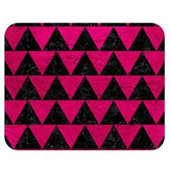 Triangle2 Black Marble & Pink Leather Double Sided Flano Blanket (medium)  by trendistuff