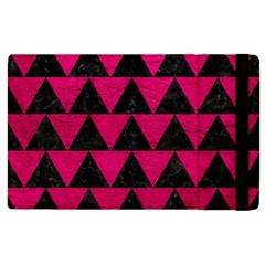 Triangle2 Black Marble & Pink Leather Apple Ipad Pro 9 7   Flip Case by trendistuff