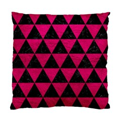 Triangle3 Black Marble & Pink Leather Standard Cushion Case (two Sides) by trendistuff