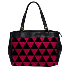 Triangle3 Black Marble & Pink Leather Office Handbags by trendistuff