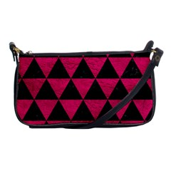 Triangle3 Black Marble & Pink Leather Shoulder Clutch Bags by trendistuff