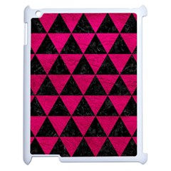 Triangle3 Black Marble & Pink Leather Apple Ipad 2 Case (white) by trendistuff