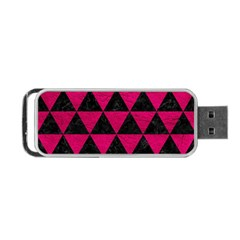 Triangle3 Black Marble & Pink Leather Portable Usb Flash (one Side) by trendistuff