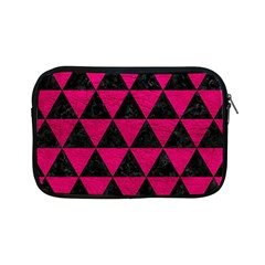 Triangle3 Black Marble & Pink Leather Apple Ipad Mini Zipper Cases by trendistuff