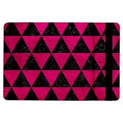 Triangle3 Black Marble & Pink Leather Ipad Air Flip by trendistuff