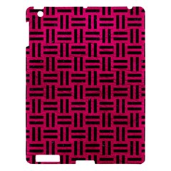 Woven1 Black Marble & Pink Leather Apple Ipad 3/4 Hardshell Case by trendistuff