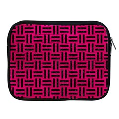 Woven1 Black Marble & Pink Leather Apple Ipad 2/3/4 Zipper Cases