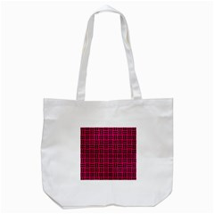 Woven1 Black Marble & Pink Leather Tote Bag (white) by trendistuff
