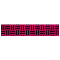 Woven1 Black Marble & Pink Leather Flano Scarf (small)