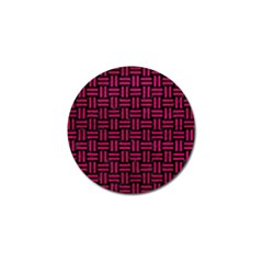 Woven1 Black Marble & Pink Leather (r) Golf Ball Marker (4 Pack) by trendistuff