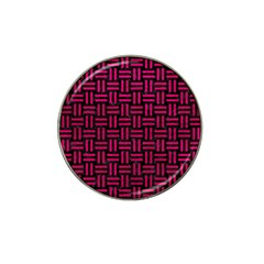 Woven1 Black Marble & Pink Leather (r) Hat Clip Ball Marker (4 Pack)