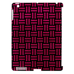 Woven1 Black Marble & Pink Leather (r) Apple Ipad 3/4 Hardshell Case (compatible With Smart Cover) by trendistuff