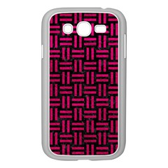 Woven1 Black Marble & Pink Leather (r) Samsung Galaxy Grand Duos I9082 Case (white) by trendistuff