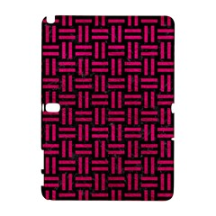 Woven1 Black Marble & Pink Leather (r) Galaxy Note 1 by trendistuff
