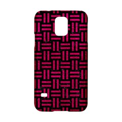 Woven1 Black Marble & Pink Leather (r) Samsung Galaxy S5 Hardshell Case  by trendistuff
