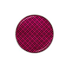 Woven2 Black Marble & Pink Leather Hat Clip Ball Marker (4 Pack) by trendistuff